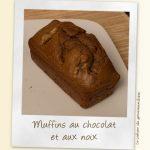Muffins cake chocolat aux noix