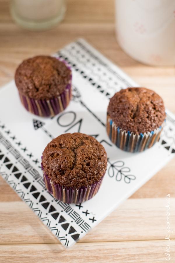 Muffins chocolat praliné | Cahier de gourmandises