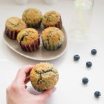 Muffins croustillants aux myrtilles