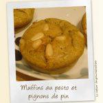 Muffins au pesto et pignons de pin