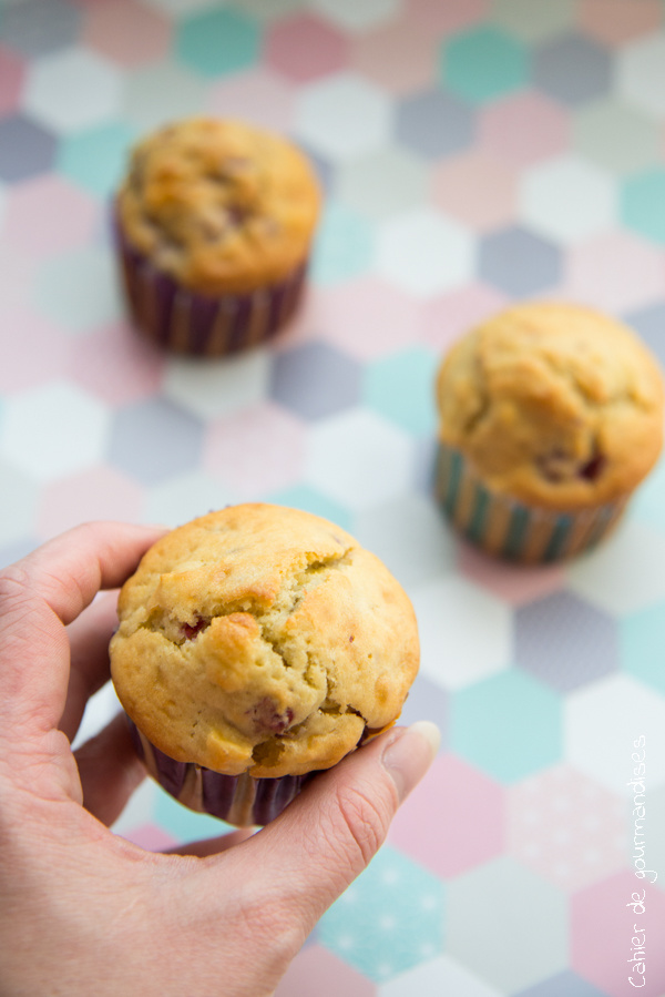 Muffins pommes et framboises | Cahier de gourmandises