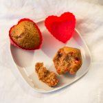 Muffins aux spéculoos et aux pralines roses