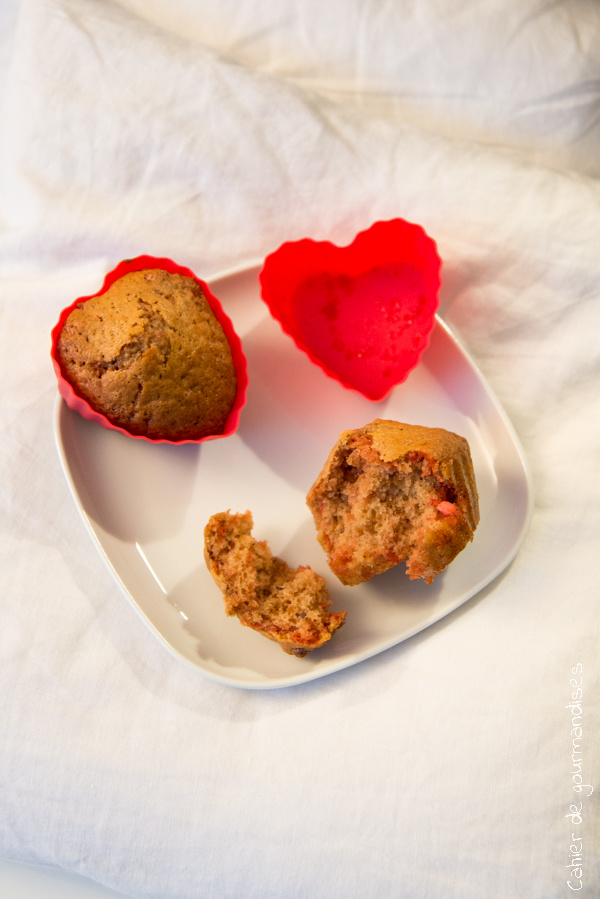 Muffins spéculoos pralines roses | Cahier de gourmandises