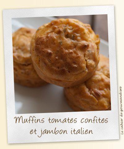 Muffins aux tomates confites et jambon italien