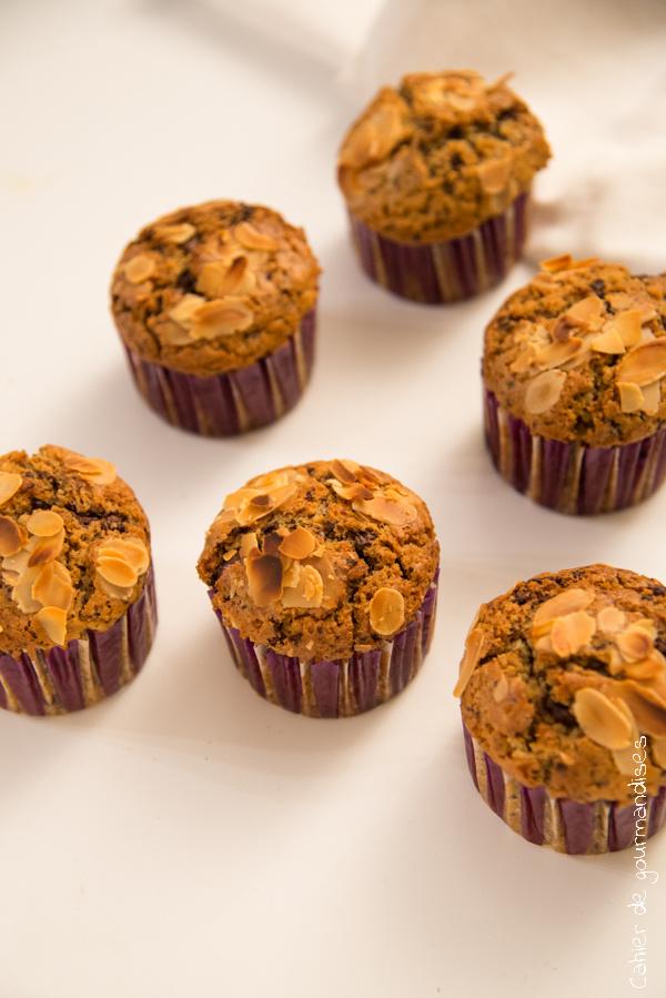 Muffins chocolat lait de coco   Cahier de gourmandises