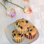 Muffins croustillants aux cranberries