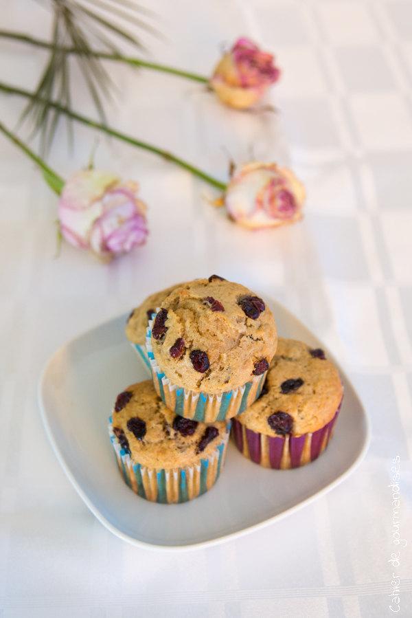 Muffins croustillants aux cranberries | Cahier de gourmandises