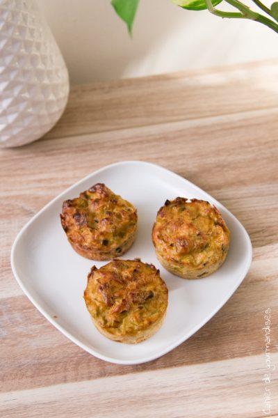 Muffins aux poireaux et lardons