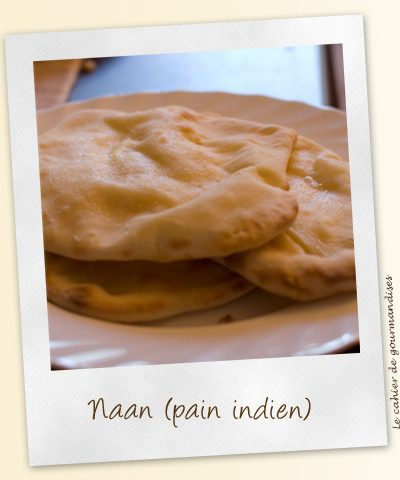 Naan au fromage (pain indien)