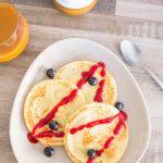 Pancakes Framboises Coco | Cahier de gourmandises