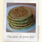 Pancakes aux petits pois, jambon & parmesan
