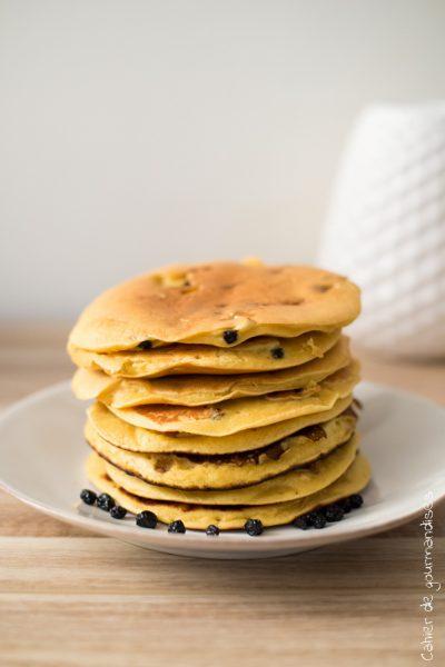 Pancakes aux myrtilles | Cahier de gourmandises