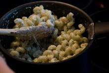 Pâtes au basilic et à la crème de fromage