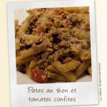 Pates au thon et tomates confites