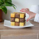 Mon gâteau Rubik's cube vanille et chocolat Pixcake
