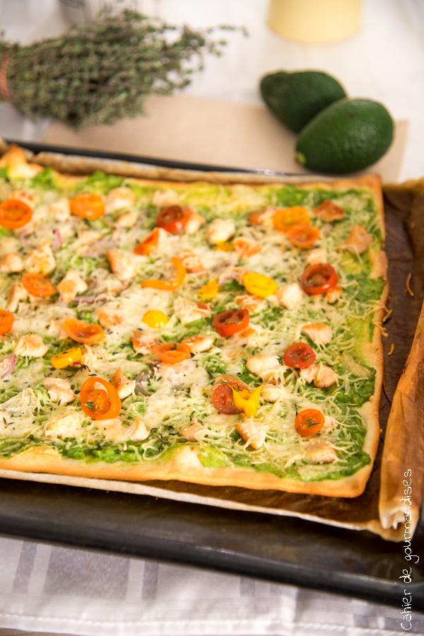 Pizza Avocat Poulet | Cahier de gourmandises