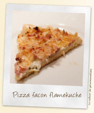 Pizza façon flameküche