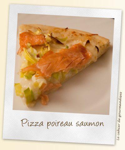 Pizza poireaux et saumon