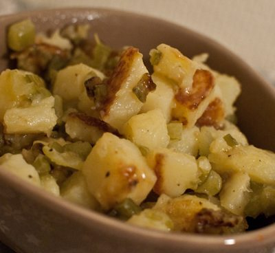 Pommes de terre au céleri branche