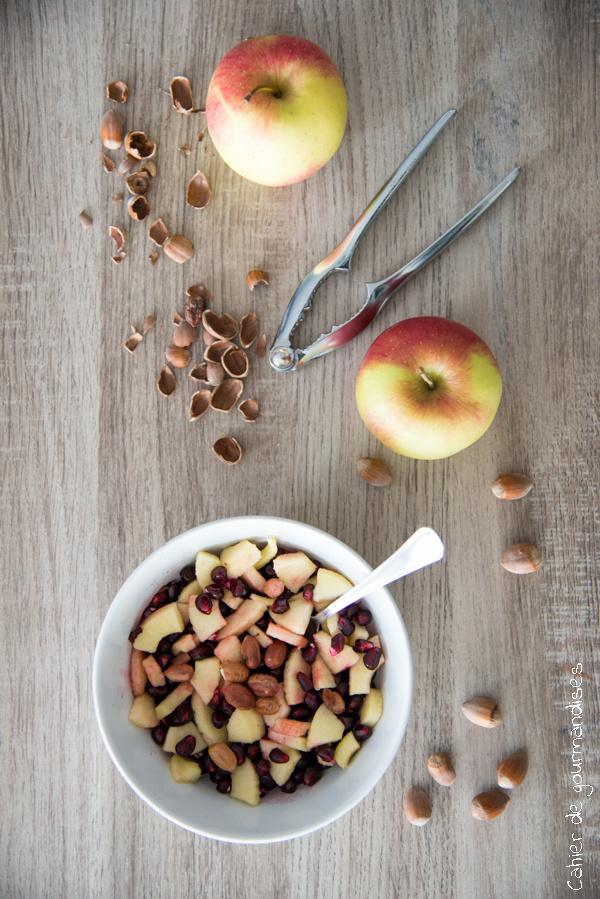 Salade de pommes grenade noisettes | Cahier de gourmandises