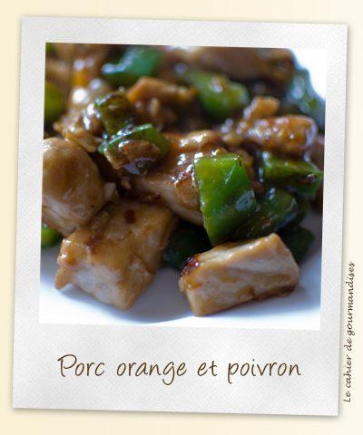 Porc façon asiatique à l'orange et au poivron