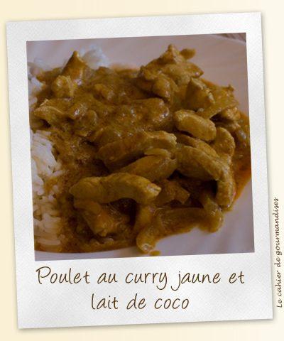 Poulet au curry jaune et coco