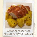 Salade de poulet et pommes de terre à l'indienne