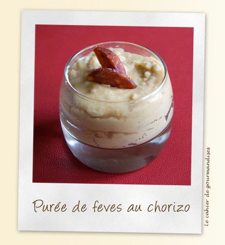 Pur e de f ves au chorizo cahier de gourmandises - Cuisiner feves fraiches ...