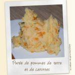 Purée de pommes de terre et carottes