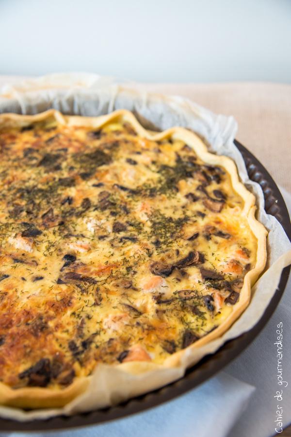 Quiche champignons et saumon frais | Cahier de gourmandises
