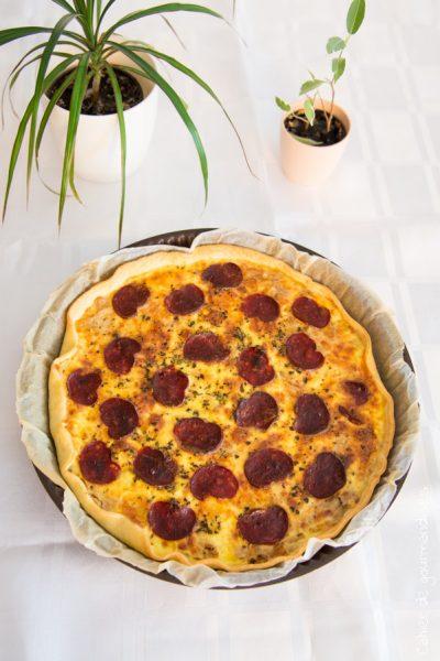 Quiche choufleur cheddar chorizo | Cahier de gourmandises