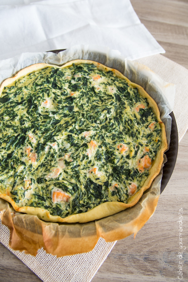Quiche saumon épinards | Cahier de gourmandises