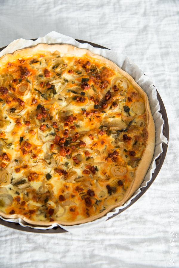Quiche oignon chorizo | Cahier de gourmandises