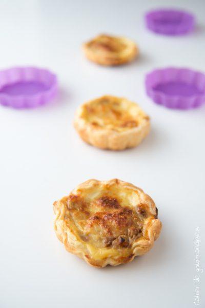 Quichettes ratatouille et anchois | Cahier de gourmandises
