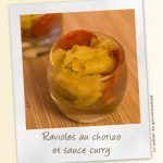 Ravioles au chorizo sauce curry