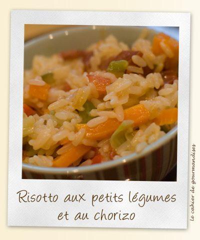 Risotto aux petits légumes  et chorizo