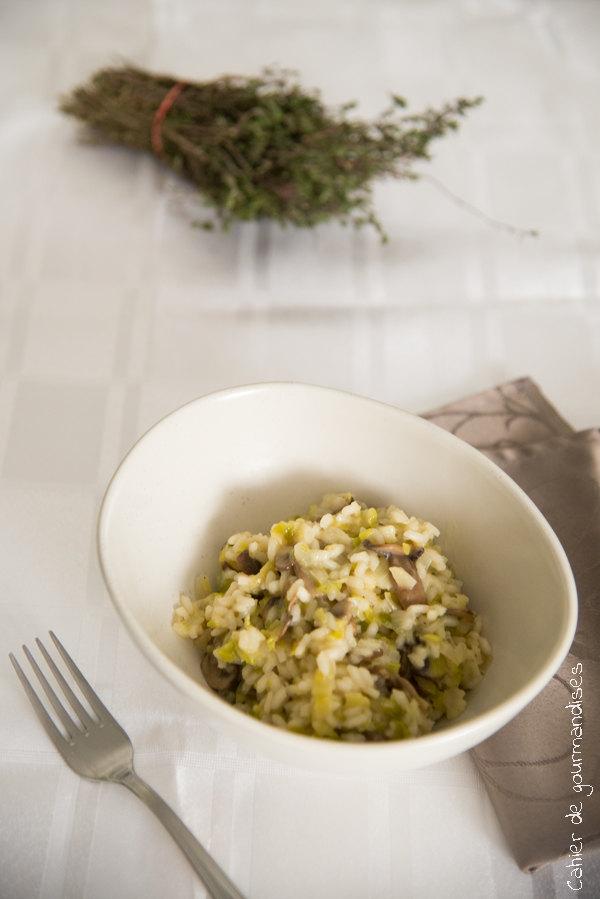 Risotto poireaux champignons | Cahier de gourmandises