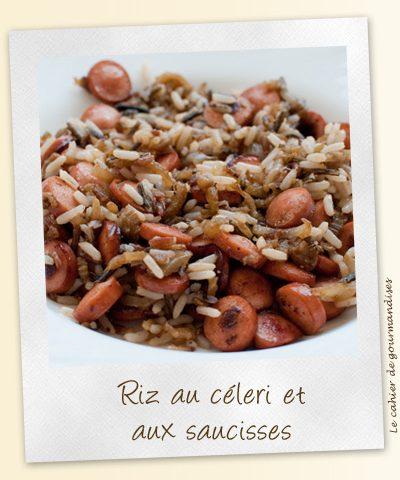 Riz au céleri et saucisses