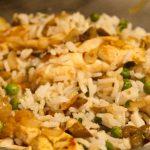 Riz, aubergines et poulet