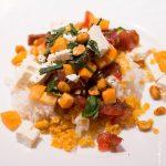 Salade de lentilles corail aux crudités et fêta
