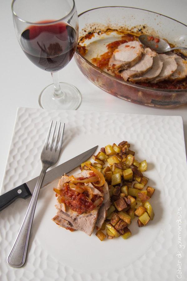 Roti de porc à la tomate | Cahier de gourmandises