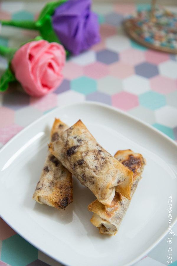 Rouleaux banane chocolat | Cahier de gourmandises