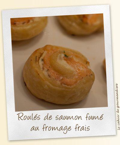 Roulés de saumon fumé au fromage frais