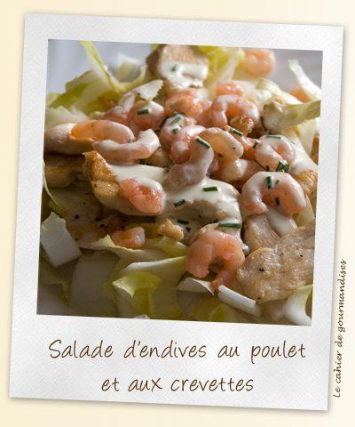 Salade d'endives au poulet et aux crevettes