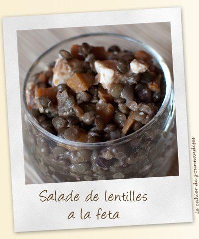 Salade de lentilles à la Féta