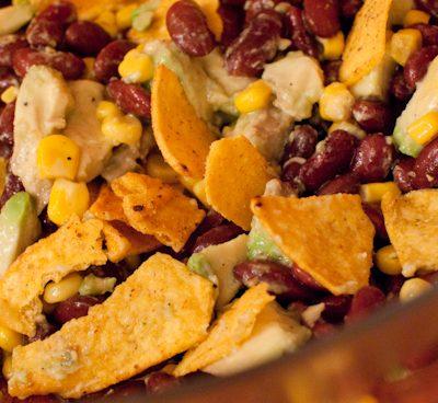 Salade mexicaine aux haricots rouges