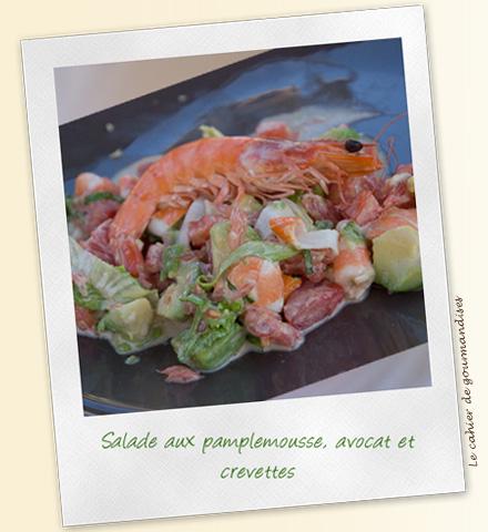 Salade pamplemousse-avocat-crevettes