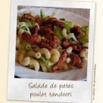 Salade de pates façon tandoori