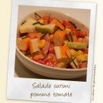 Salade de surimi pomme-tomates