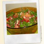 Salade aux tomates et melon
